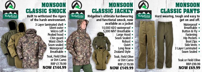 Ridgeline Monsoon Classic Smock, Jacket and Trousers