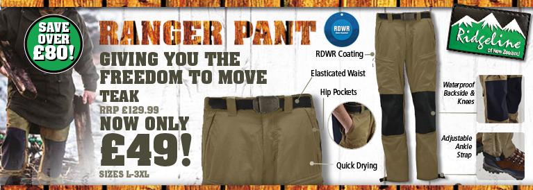 Ridgeline Ranger Trousers - Teak