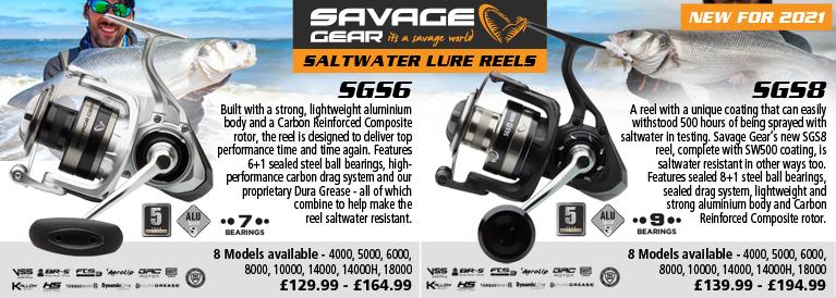 Savage Gear Saltwater SGS6 and SGS8 Lure Reels