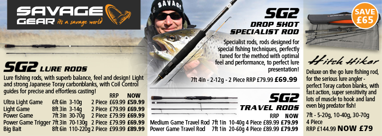 Savage Gear SG2 Rods and SG2 Hitch Hiker Rods