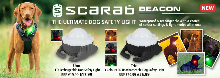 Scarab Uno and Trio Dog Safety Lights