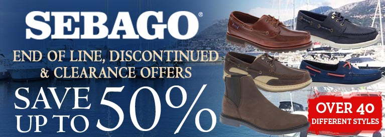 Sebago End of Line Offers
