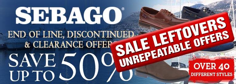 Sebago End of Line Offers