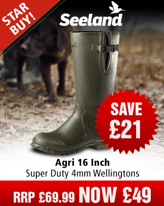 Seeland Agri 16 Inch Super Duty 4mm Wellingtons - Dark Green