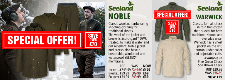 Seeland Noble Series and Warwick Shirts Black Friday Offer