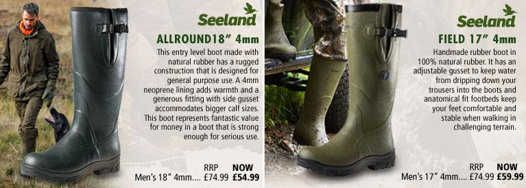 Seeland Woodcock, Field and Estate Vibram Wellingtons