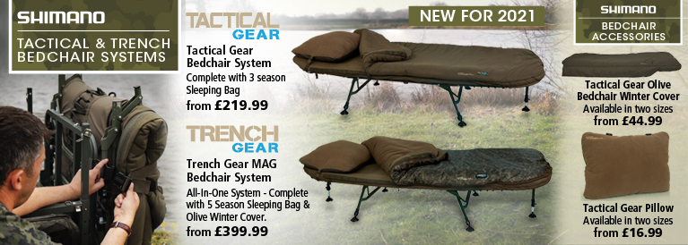 Shimano Tactical and Trench Bedchair System