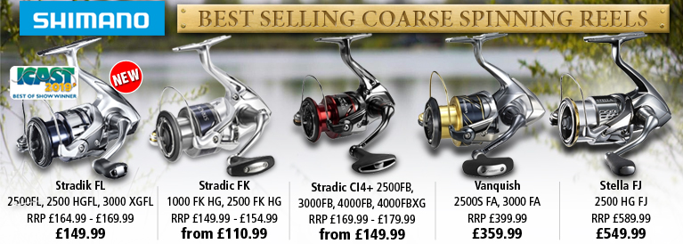 Shimano Best Selling Coarse Spinning Reels