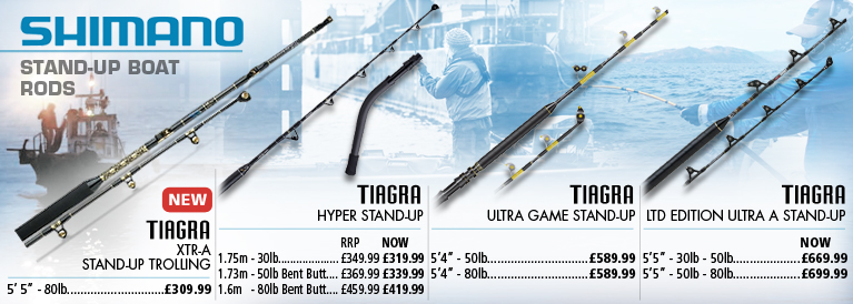 Shimano Tiagra Stand-Up Boat Rods