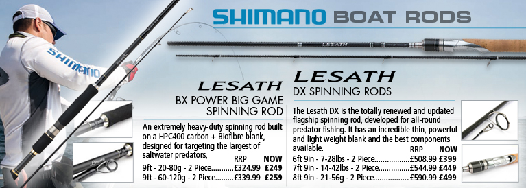 Shimano BX and DX Spinning Rods
