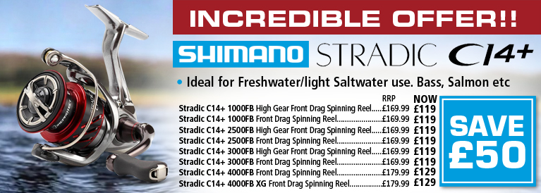 Shimano Stradic C14+ Spinning Reels Offer