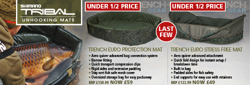 Shimano Trench Euro Protection and Trench Euro Stress Unhooking Mats