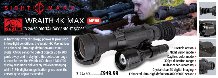 Sightmark Wraith 4K MAX Digital Night / Day Riflescope