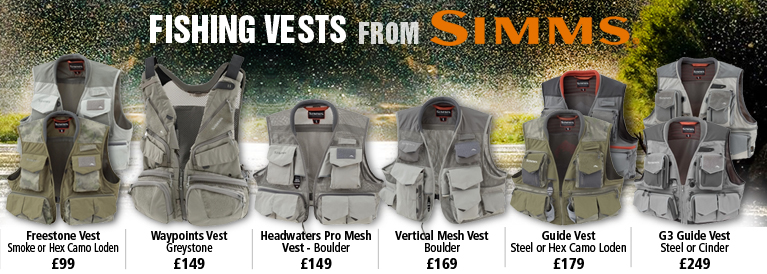 Simms 5 New Fishing Vests