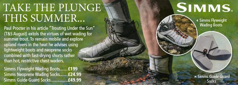 Simms Flyweight Wading Boots, Neoprene Wading Socks and Guide Guard Socks