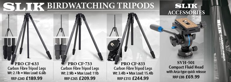 Slik Pro Carbon Fibre Birdwatching Tripiods