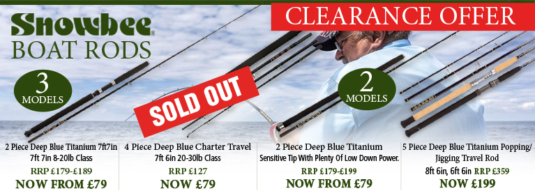 Snowbee Boat Rods Clearance Offer