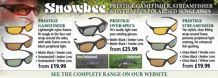 Snowbee Prestige Gamefisher, Streamfisher and Over-Spec Polarised Sunglasses