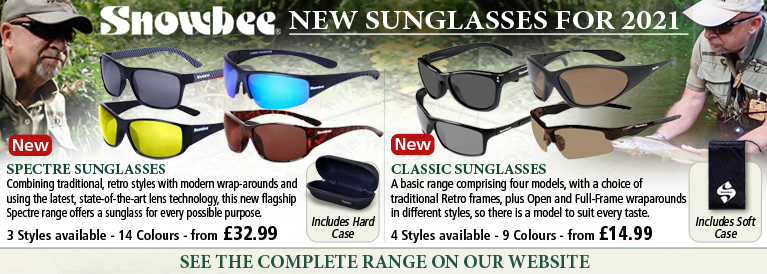 Snowbee Spectre and Classic Sunglasses NEW for 2020