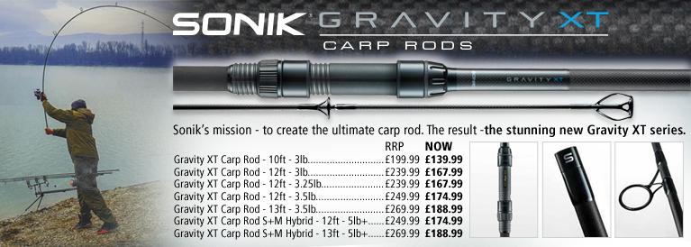 Sonik Gravity XT Carp Rods