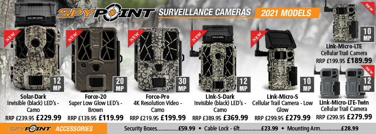 SpyPoint New for 2019 Trail Cameras