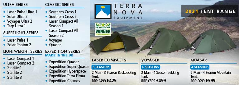 Terra Nova & Wild Country Tents Range