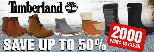 Timberland Save up to 50 Percent - Over 2000 Pairs to Clear