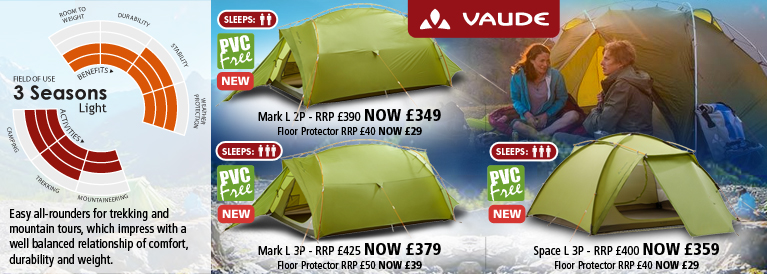 Vaude 3 Season Light Tents