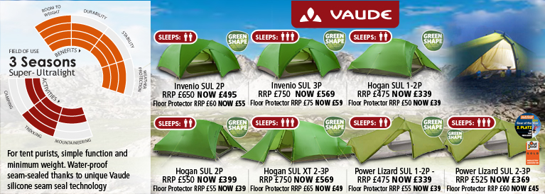 Vaude 3 Season Super Ultralight Tents