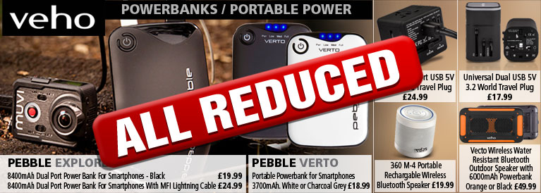 Veho Powerbanks and Portable Power