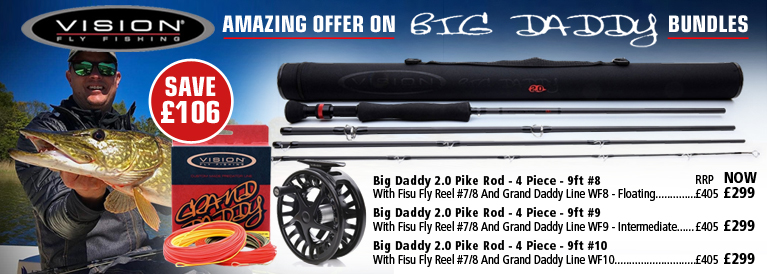 Vision Big Daddy Pike Rods Amazing Offer Bundles