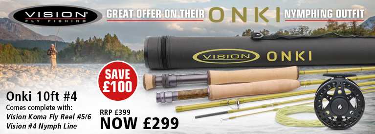 Vision 4 Piece Onki Fly Rod - 10ft #4 c/w Vision Koma Fly Reel #5/6 & Vision #4 Nymph Line