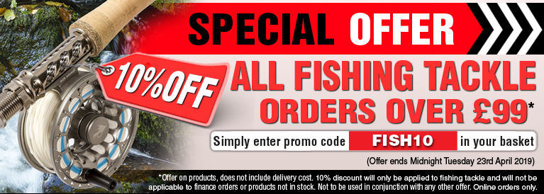 Weekend Offer 10 Percent Off all Fishing Tackle