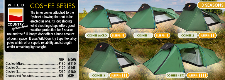 Wild Country Coshee Tent Series