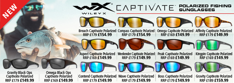 Wiley X Captivate Polarized Fishing Sunglasses