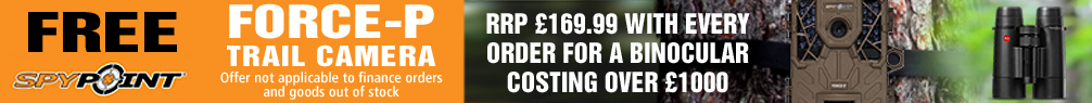 Free Spypoint Force-P Trail Camera with every Binocular Order over £1000