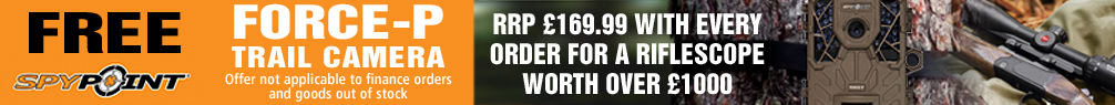 Free Spypoint Force-P Trail Camera with every Riflescope Order over £1000