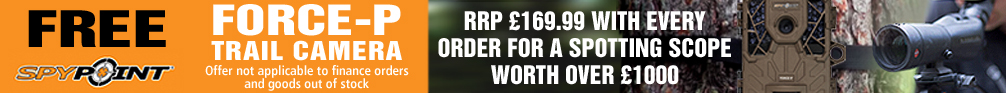 Free Spypoint Force-P Trail Camera with every Spotting Scope Order over £1000