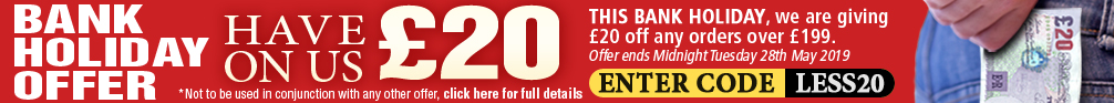Bank Holiday Offer Have £20 on Us