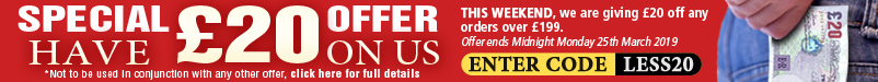 Have £20 on us with every order over £199