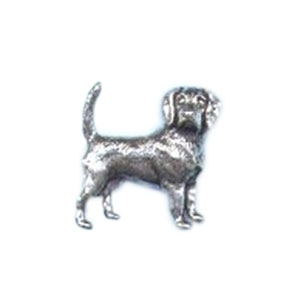 Image of A R Brown Beagle Pewter Pin Badge