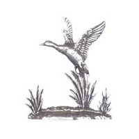 A R Brown Duck Pewter Sculpture