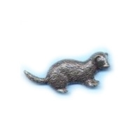 A R Brown Ferret Pewter Pin Badge