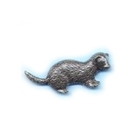 Image of A R Brown Ferret Pewter Pin Badge