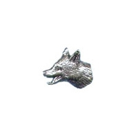 A R Brown Fox Pewter Pin Badge