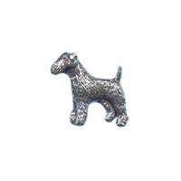 A R Brown Fox Terrier Pewter Pin Badge