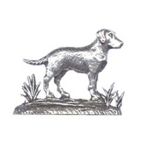 A R Brown Labrador Pewter Sculpture