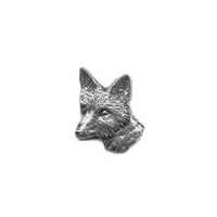 A R Brown Large Fox Head Pewter Pin Badge