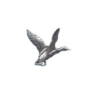 A R Brown Mallard Pewter Pin Badge