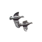 Image of A R Brown Partridge Pewter Pin Badge